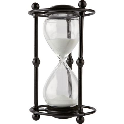 Metal Framed Sand Timer 30 Minutes at Homebase -- Be inspired and make your house a home. Buy now.