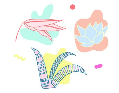 """Check out new work on my @Behance portfolio: """"little plants"""" http://be.net/gallery/51500031/little-plants"""