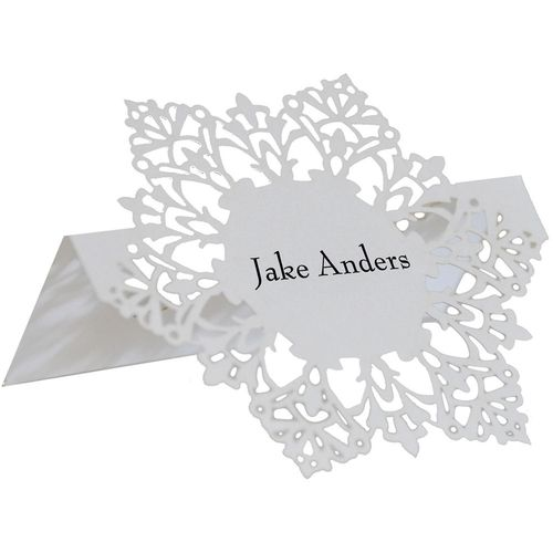 snowflake place card holders set of 25