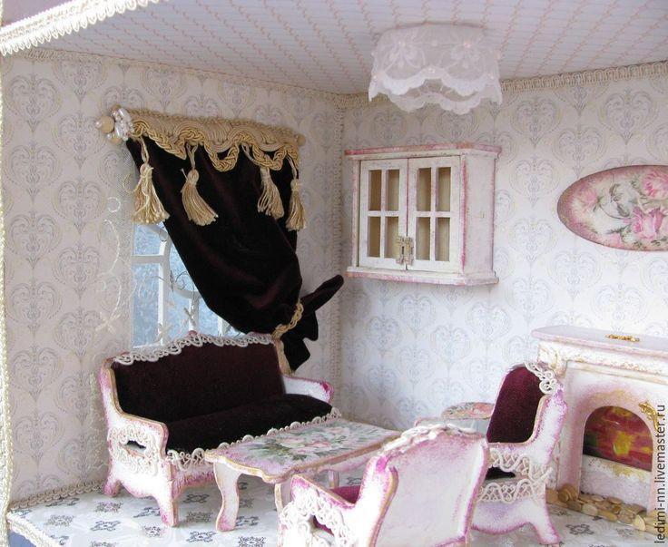 Купить Кукольная мебель Гостиная, мебель для кукол - кукольный домик, домик для кукол, кукольная миниатюра