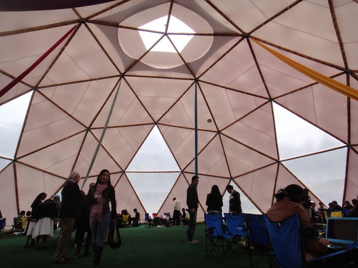 Our latest bamboo dome. Builded in Bogotá Colombia