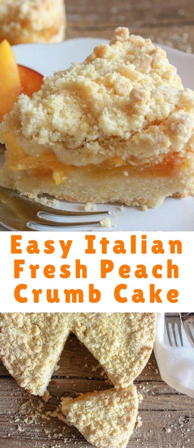 Fresh Peach Cake Recipe | Ina Garten | Food Network