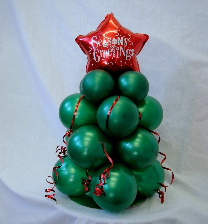 Pearl Forest Green with Red Star 5inch Christmas Tree