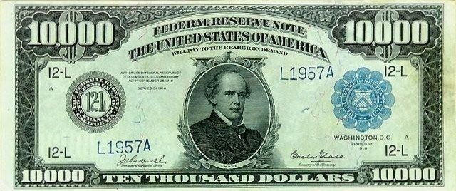United States: 1918 Ten Thousand Dollars Bill