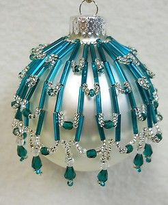 """Pattern Only Beaded Christmas Ornament Cover Holiday Original """"Tahoe"""" 