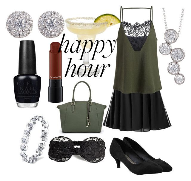 """Happy Hour"" by lauras86 on Polyvore featuring Michael Antonio, JustFab, Sterling Forever, Nordstrom Rack, OPI and MAC Cosmetics"