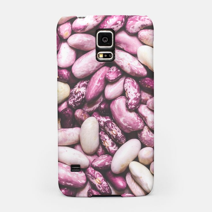 Shiny white and purple cool beans Samsung Case, Live Heroes