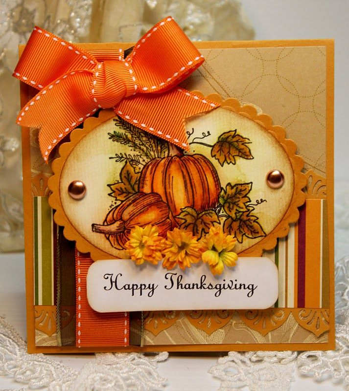 Lovely coloring on pumpkinsFall Pumpkin, Cards Thanksgiving, Cards Ideas, Happy Thanksgiving, Fall Cards, Thanksgiving Handmade Cards, Fall Thanksgiving, Fall Autumn, Handmade Thanksgiving Cards
