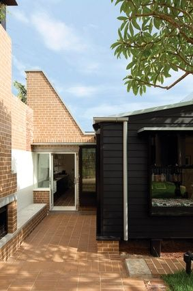 Exemplar Cottage's floor plan opens into terrace to combine the indoors with the outdoors.