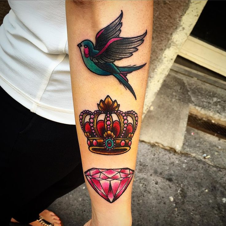 tatouage diamant old school #15: 45 luxury diamond tattoo designs