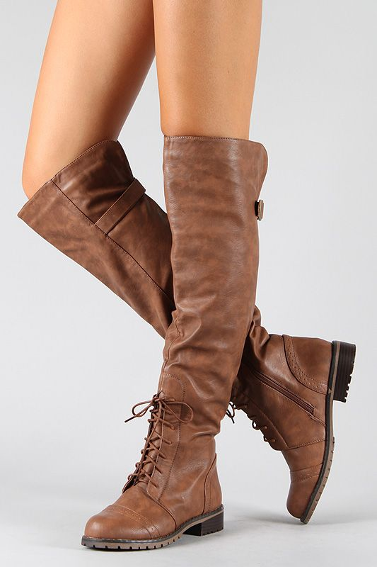 *sigh* if only they were still in my size Lug-16 Lace Up Military Combat Knee High Boot