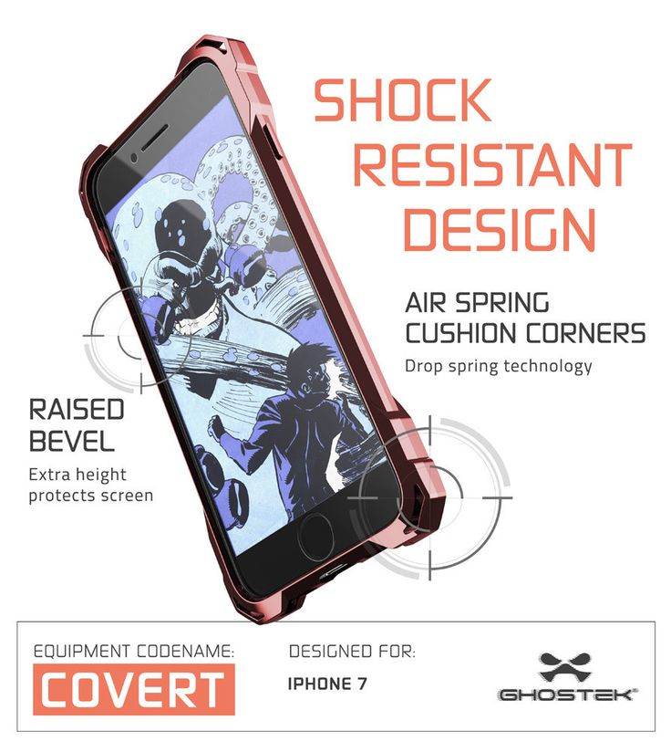 iPhone 7 Plus Case, Ghostek® Covert Rose Pink Series for Apple iPhone 7 Plus Premium Impact Protective Armor Case Cover | Clear TPU | Lifetime Warranty Exchange | Explosion-Proof Screen Protector | Ultra Fit (Rose Pink)  PRECISELY CUT: With the case cut so precisely, the iPhone 7 Plus headphone and microphone jacks will be just as accessible. You'll only have to carry what you need, making international travels a breeze. 5 COLORS TO CHOOSE FROM: Clear, Space Gray, Rose Pink, Peach, Teal…