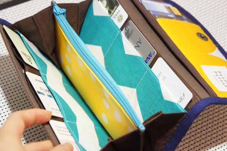 ordermade wallet green:inside  #handmade #wallet #ordermade #sewing #10gruppen