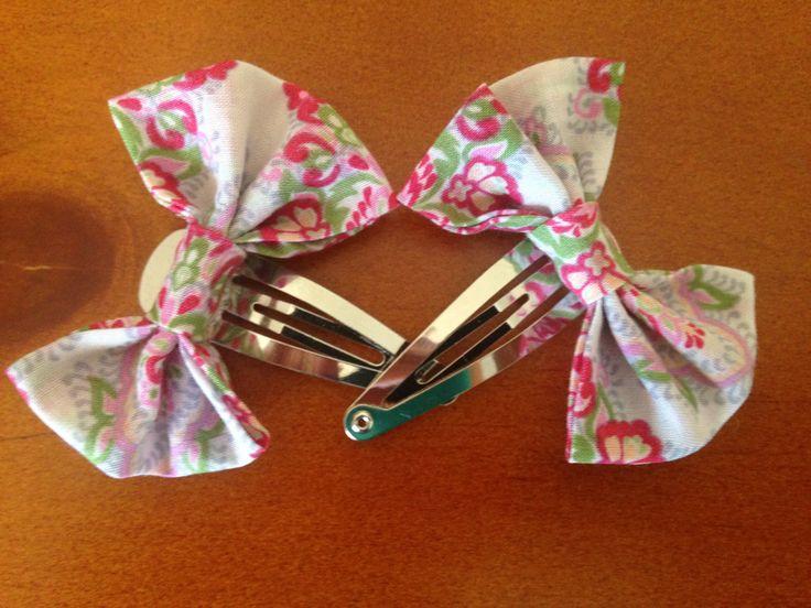 Flower Bow Hair Clip