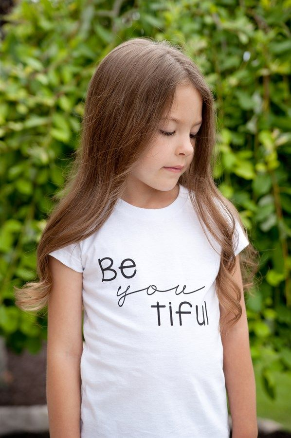 """""""Be YOU tiful"""" Graphic Girls Tee {Jane Deals}"""