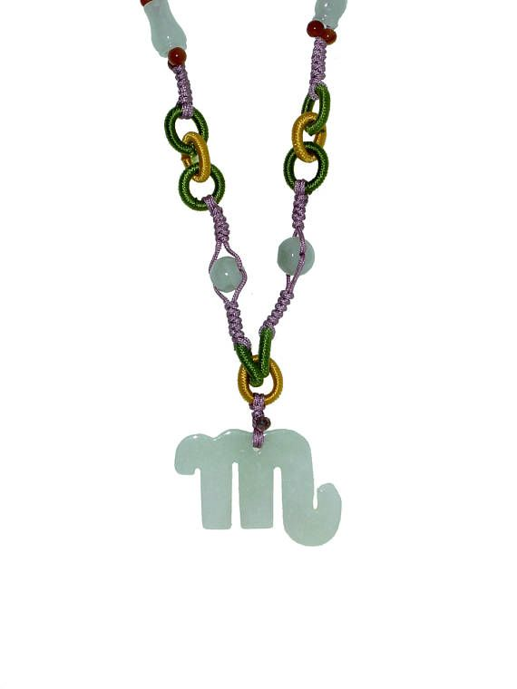 Scorpio—Deeply Reserved, Secretive, and Determined Oct.23 – Nov. 21 - Scorpio Jade Necklaces