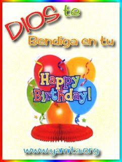 Tarjeta � DIOS te bendiga en tu Happy Birthday I