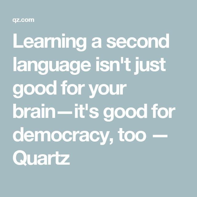 What would be a good second language for me to learn ...