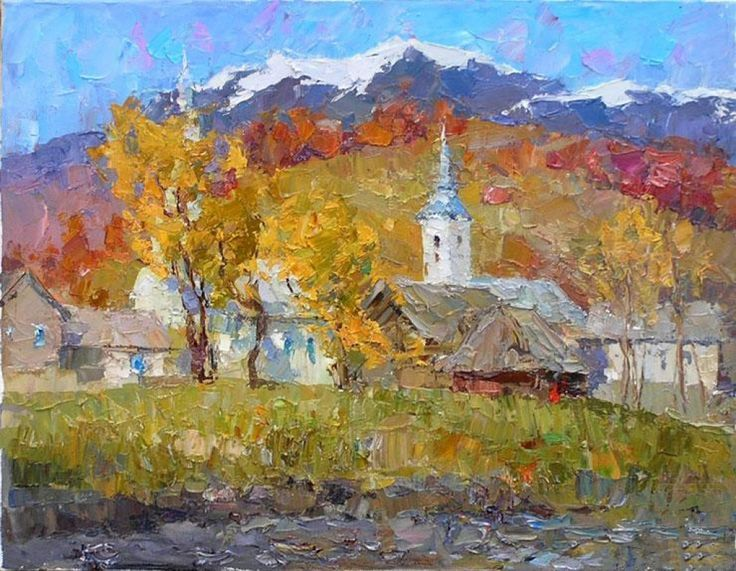 Russian Master: Marmanov Roman http://www.russianfineart.com/catalog/prod.php?productid=25240  Autumn In Zakarpatye - oil, canvas: