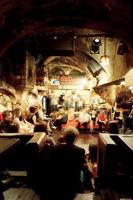 Swing dance with a stranger at Caveau de la Huchette jazz club. Paris, France. Mission Accomplished 10/2012.