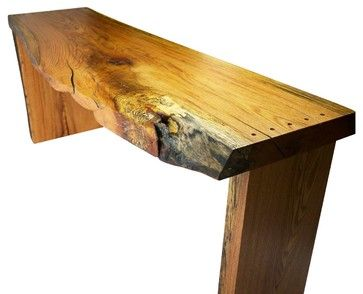 Spalted Narrow Oak Desk - eclectic - console tables - Robin Wade Furniture