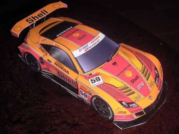 2010 Shell Racing Epson Honda HSV 010 GT Paper Car Free Paper Model Download