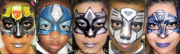 Awesome transformer face painting