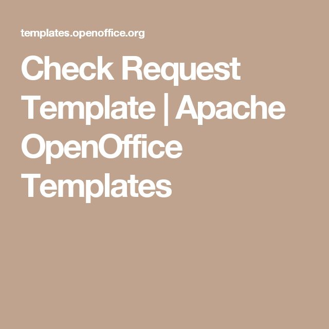 Check Request Template | Apache OpenOffice Templates