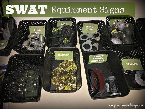 PDF: Printable SWAT Equipment Signs  Green  by luminousmoon