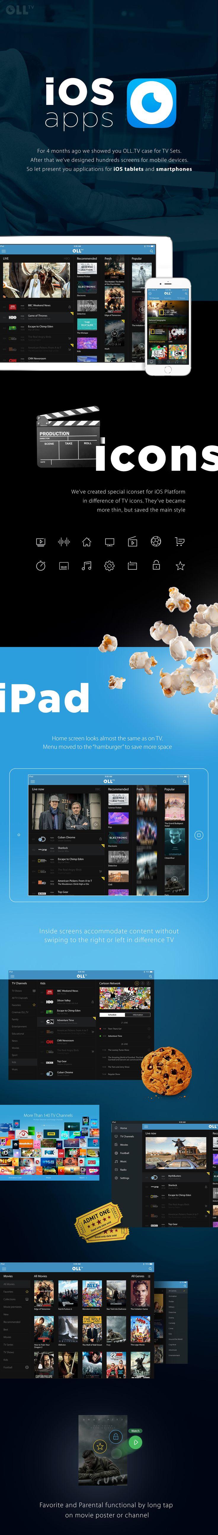 OLLTV for iOS on Behance