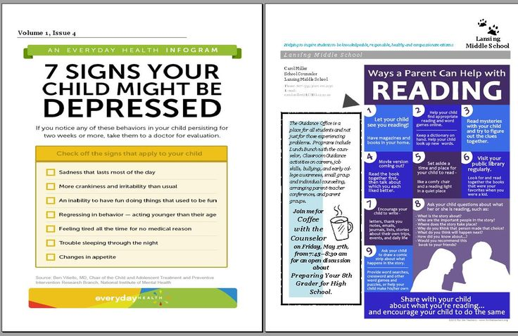 The Middle School Counselor: promoting your school counseling program. templates
