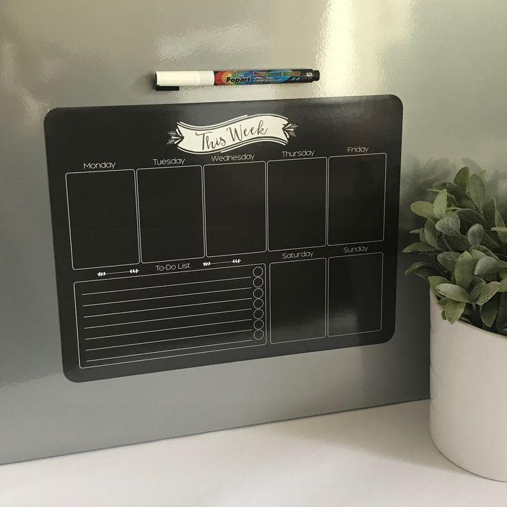 Reusable Weekly Planner Fridge Magnet by ATP Creative Design.