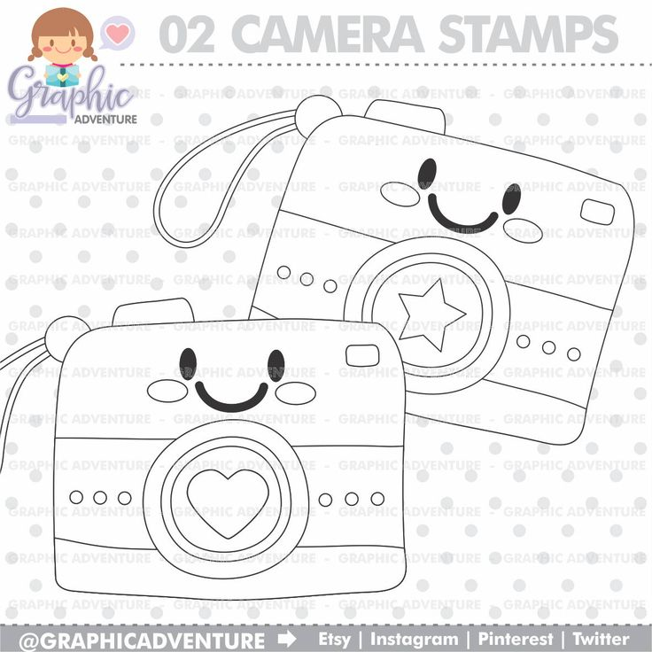 75%OFF - Camera Stamps, Photography Stamps, Picture Stamp, COMMERCIAL USE, Digi Stamp, Digital Image, Camera Digistamp, Camera Coloring Page