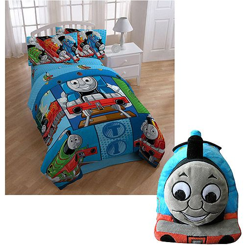 Thomas The Train Twin Comforter, Twin Sheet Set And Cuddle Pillow Pal Value  Bundle: