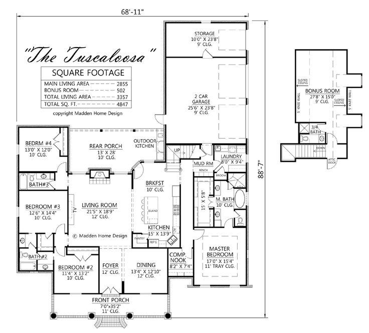 133 best floor plans images on pinterest house floor for Madden house plans