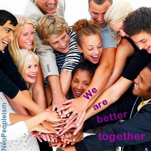 When we share time and community we see what we all value: peace, health, fairness, and a good future. We are better together.