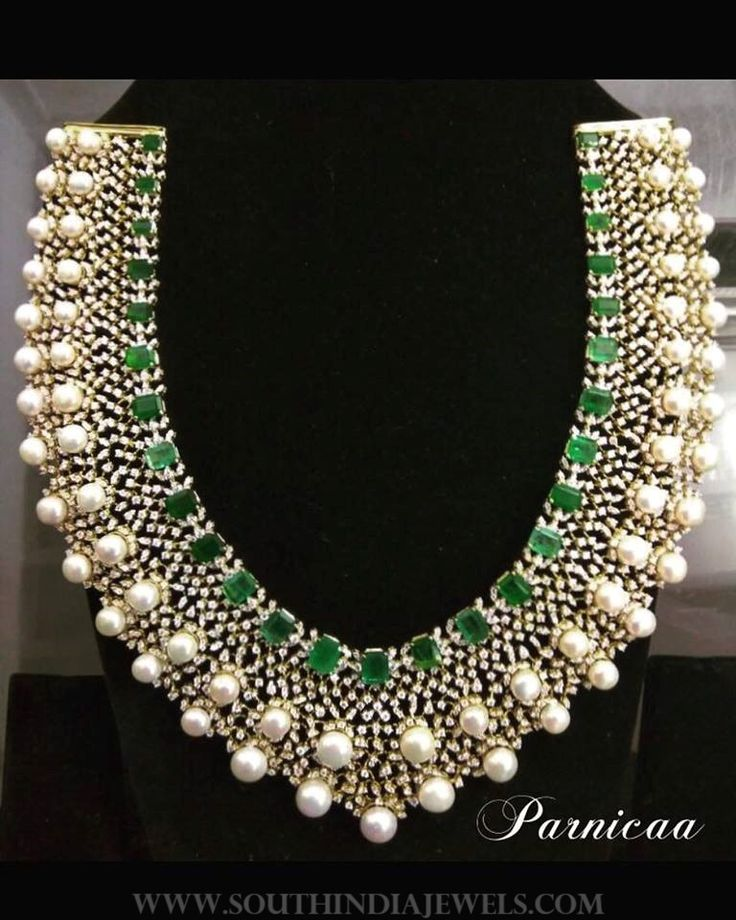 Diamond Pearl Choker From Parnicaa