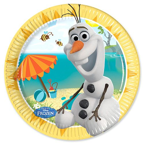Party Ark's 'Disney Frozen Olaf in Summer Plates. Perfect for ev's birthday!!