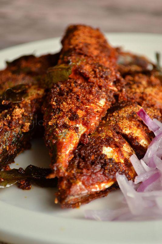 Karnataka Style Mackerel Fry   Bangada Fry   Rava Fish Fry