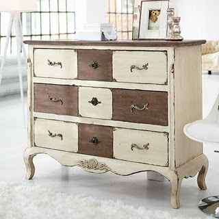 interesting!: Modern Furniture, Diy'S Furniture, Paintings Furniture, Furniture Arrangements, Color, Shabby Chic, Paintings Dressers, Chest Of Drawers,  Commod