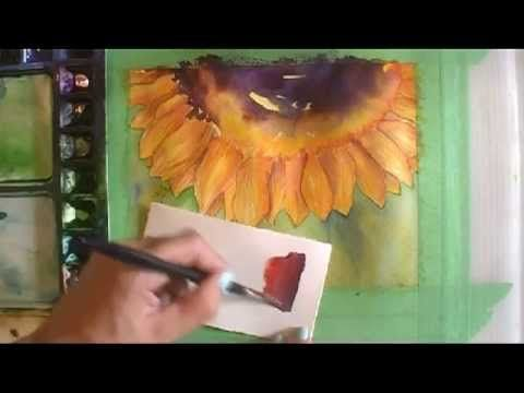 ▶ Paint a Sunflower in Watercolour Part 4: Adding Detail - YouTube
