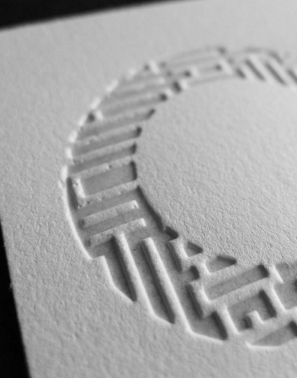 Best Letterpress Images On   Embossed Business Cards