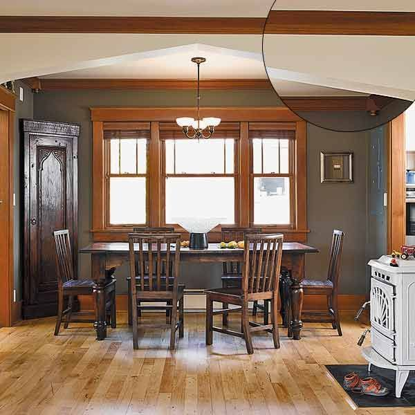 24 Best Images About Grey Walls/Wood Trim On Pinterest