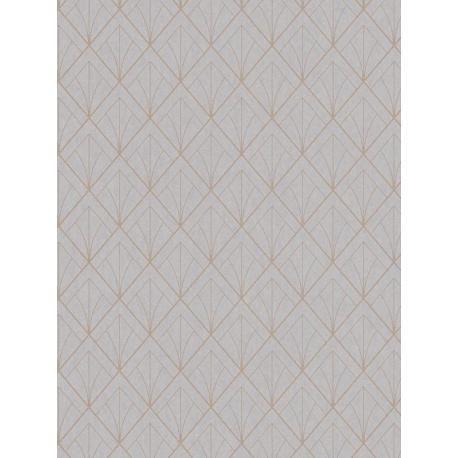 papier peint art d co taupe cuivre louise casadeco papier peint pinterest. Black Bedroom Furniture Sets. Home Design Ideas