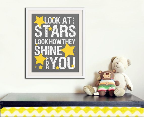 Coldplay lyrics for the baby's nursery? I think so!