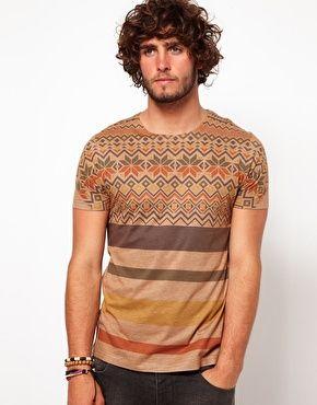 Enlarge ASOS T-Shirt With Fairisle Stripe Print