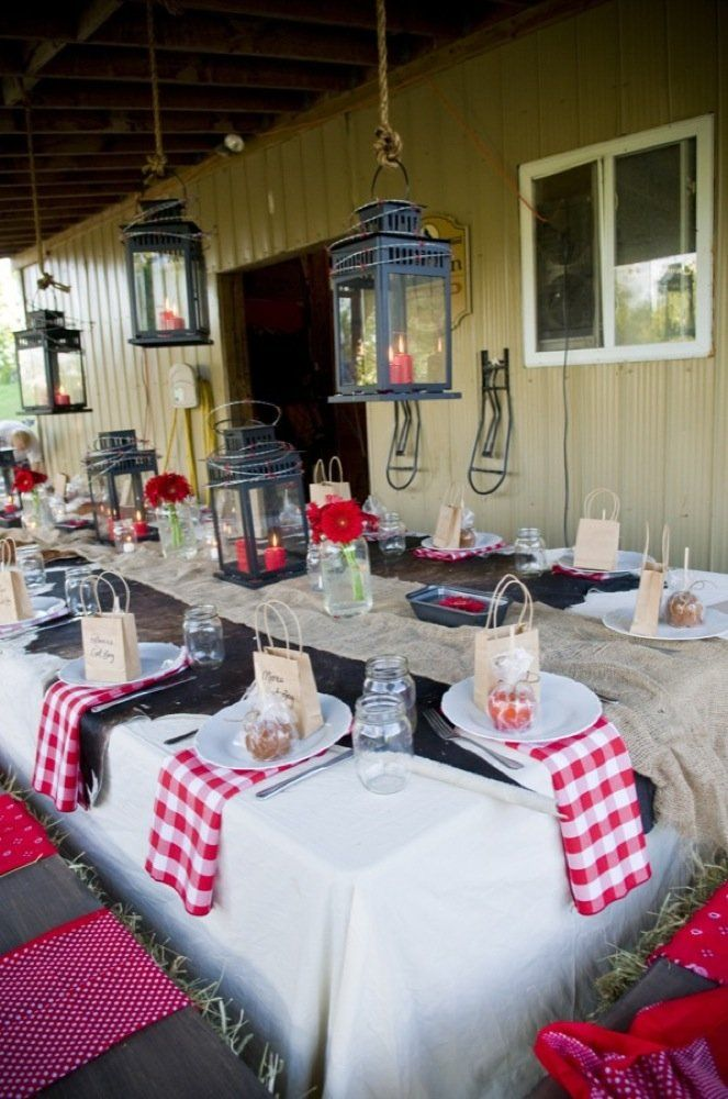 Rehearsal Dinner Table Decorations | ... Lord In: Rustic Country Wedding Ideas , Rustic Rehearsal Dinners
