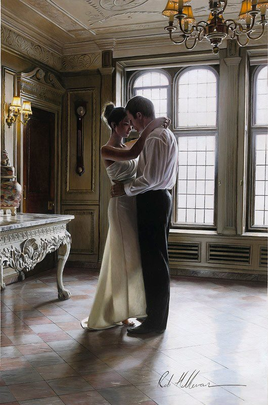 My Darling, we will make this place our home, our decor, our family home. Just think, it's all ours my love......