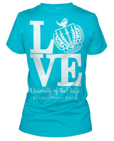 Panhellenic shirts in different colors! #theta1870 #panhellove