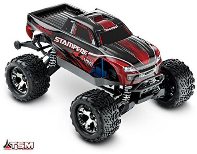 Electric RC Monster Truck Traxxas 4X4 VXL 1/10 Scale with TQi 2.4GHz Radio TSM #Traxxas